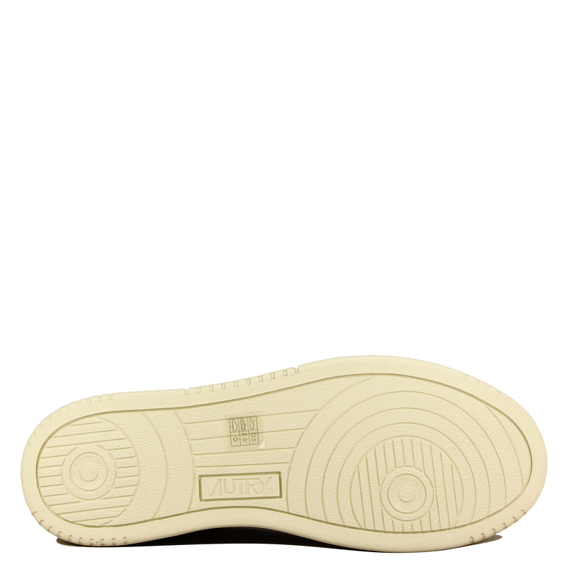 Autry Action Shoes 01 Low White Suede Black