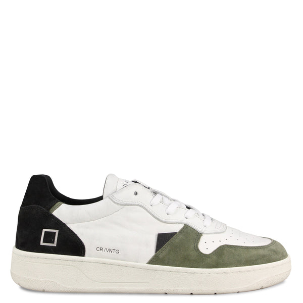 D.A.T.E Court Vintage Calf White/Black
