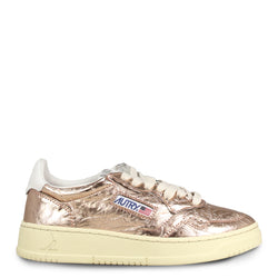 Autry Action Shoes 01 Low Leather Lamin Golden Rose