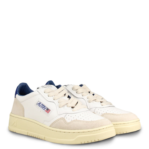 Autry Action Shoes 01 Low Leather Suede White Blue 39