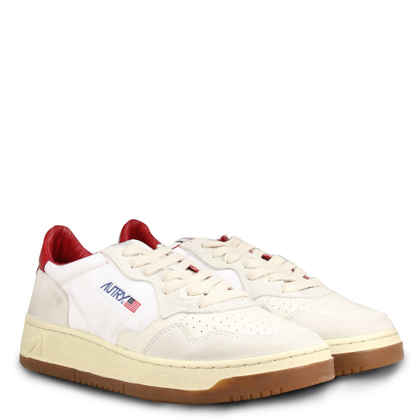 Autry Action Shoes 01 Low Nylon Bi White Red