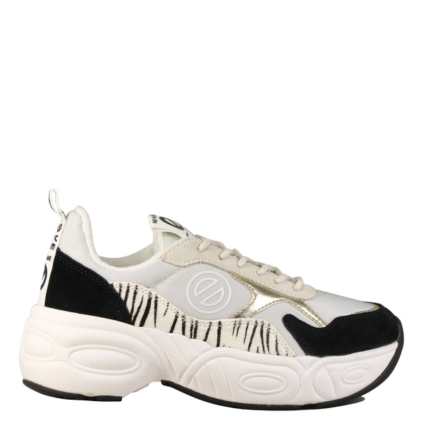 Baskets No Name Nitro Jogger Zebra Milk