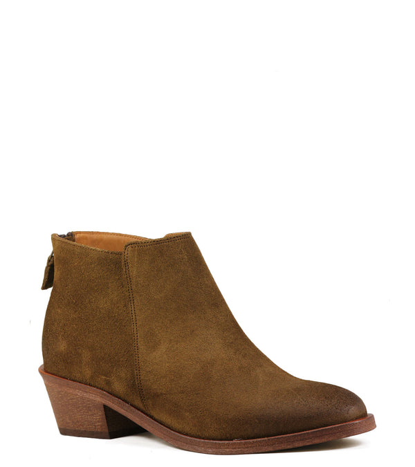 Boots en cuir velours Anthology Paris Selah Daim Camel