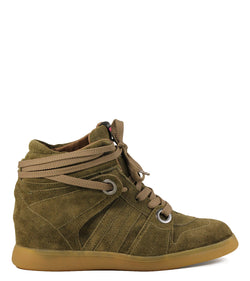 Serafini Manhattan Antelope Fringed Wedge Sneakers