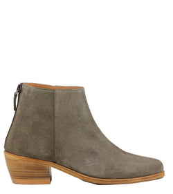 Boots en cuir velours Anthology Paris Telma Daim Caribou