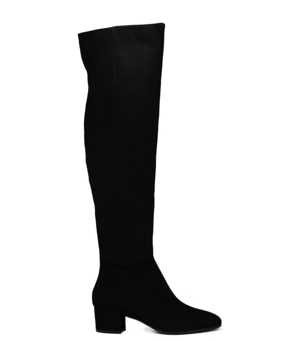 Bottes en daim noirl The Seller S5204 Camoscio Nero