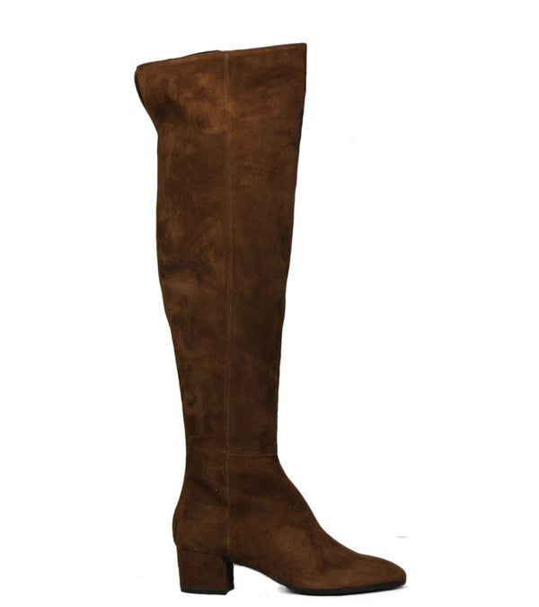 Bottes en daim camel The Seller S5204 Camoscio Cuoio