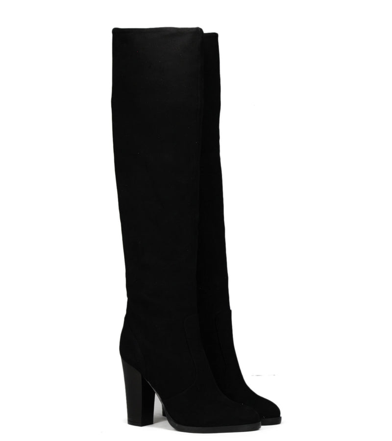 Bottes en daim noir The Seller S5254 Camoscio Nero