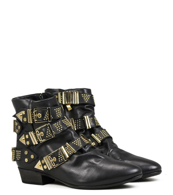 Fury boots Fury Lo Buckle Black Gold