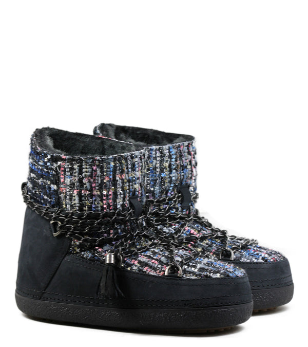 Moon-Boots Inuikii Lady Low Black Tweed