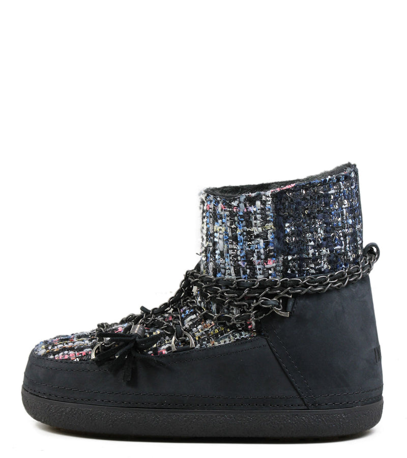 Inuikii Lady Low Black Tweed