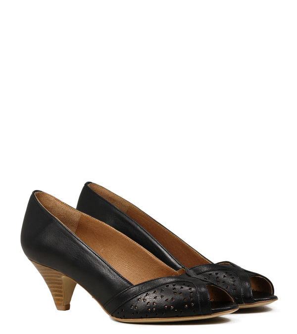 Escarpins Peep Toe Sessun Totem Black