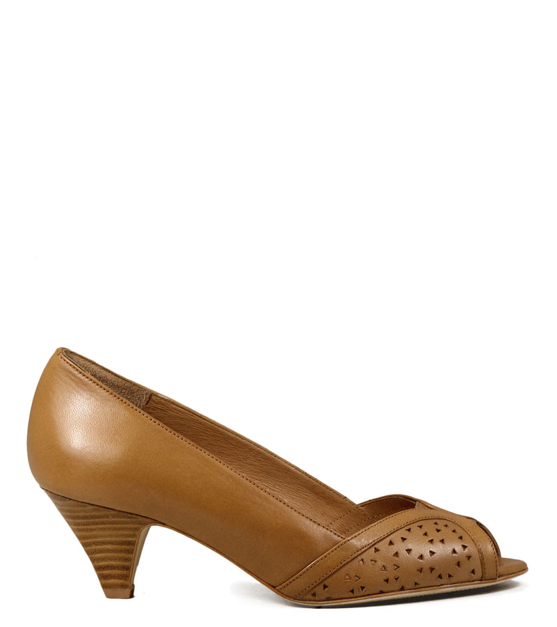 Escarpins Peep Toe Sessun Totem Naturel