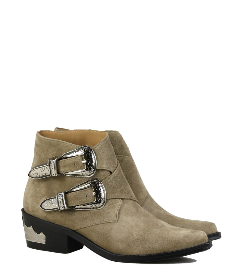 Boots pointues Toga Pulla AJ780 Khaki Suede
