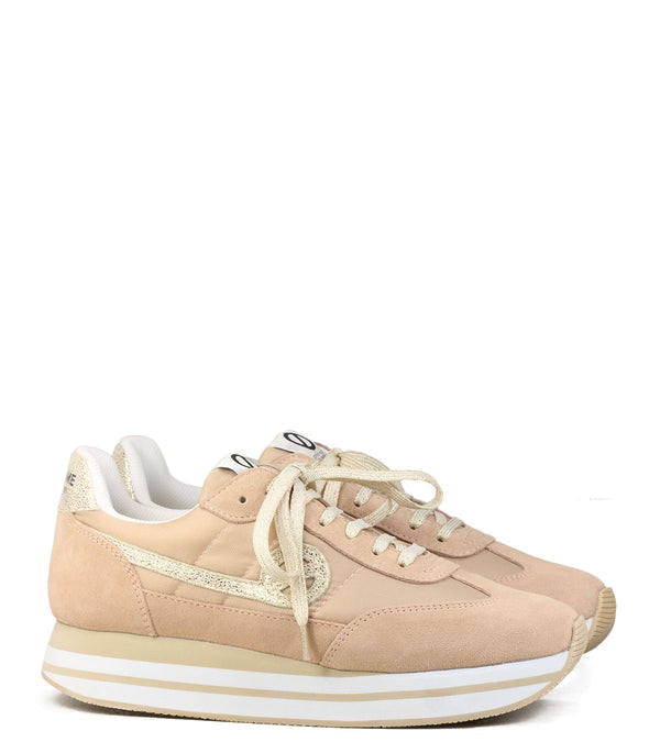 Baskets forme running No Name Eden Jogger Nylon Split Poudre