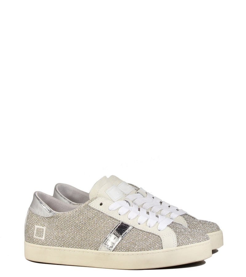 Sneakers glitter D.A.T.E Hill Low Poip Argegno Glitter