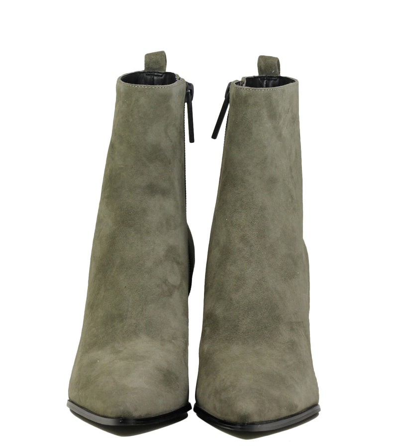 Boots en cuir velours khaki Kendall + Kylie Felix Black Leather