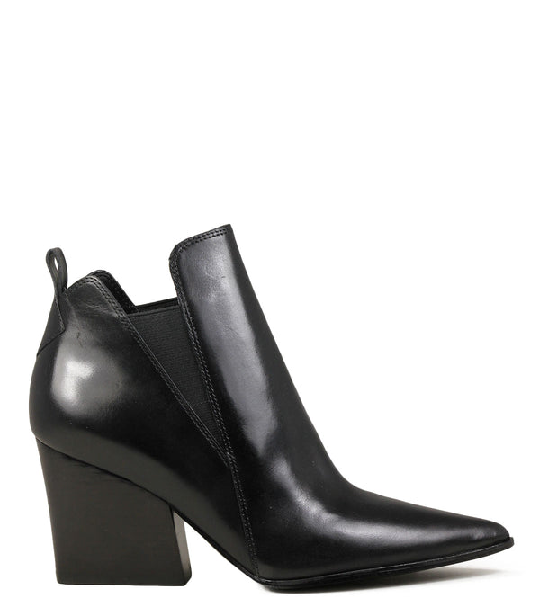 Boots en cuir noir Kendall + Kylie Fox Black Leather