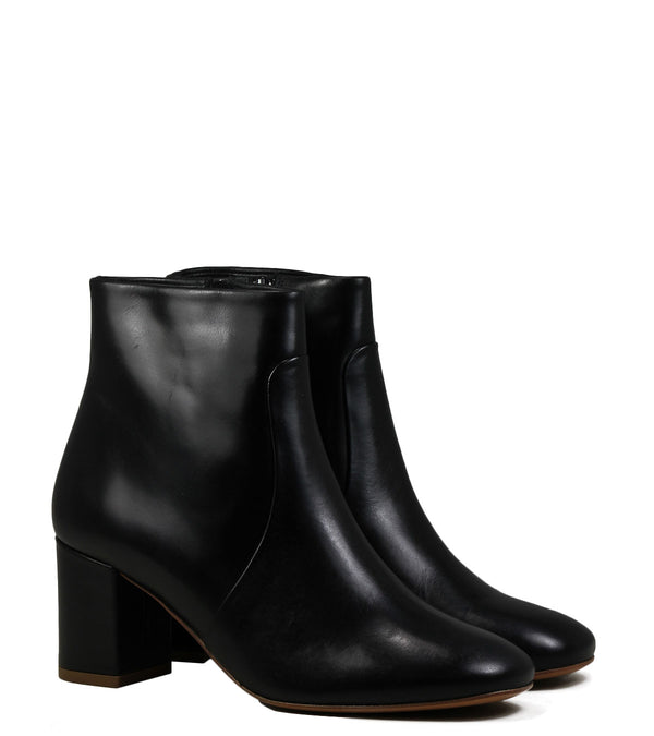 Boots en cuir noir Sessun Petulia Black Leather