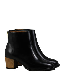 Boots en cuir noir Sessun Lasana Black Leather