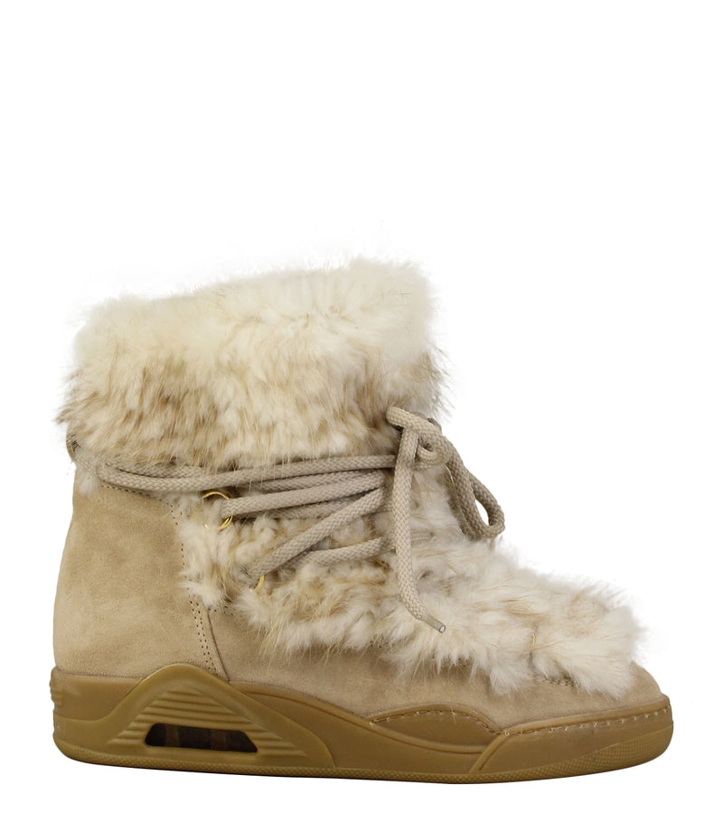 Moon-boots Serafini Moon 09 White Beaver & Suede