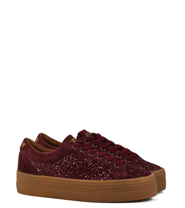 Sneakers No Name Plato Bridge Flash Suede Bordeaux