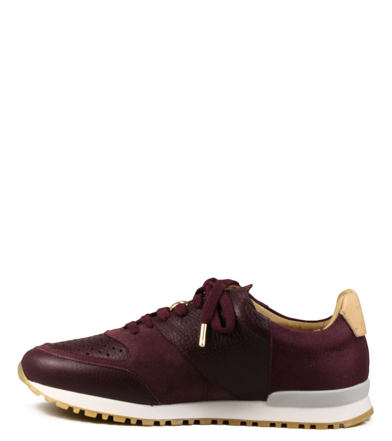 Sneakers running Pairs in Paris N°5 Valmy Burgundy