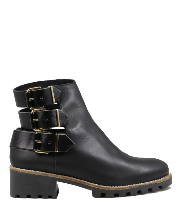 Boots cut-out Miista Cecilia Black Leather