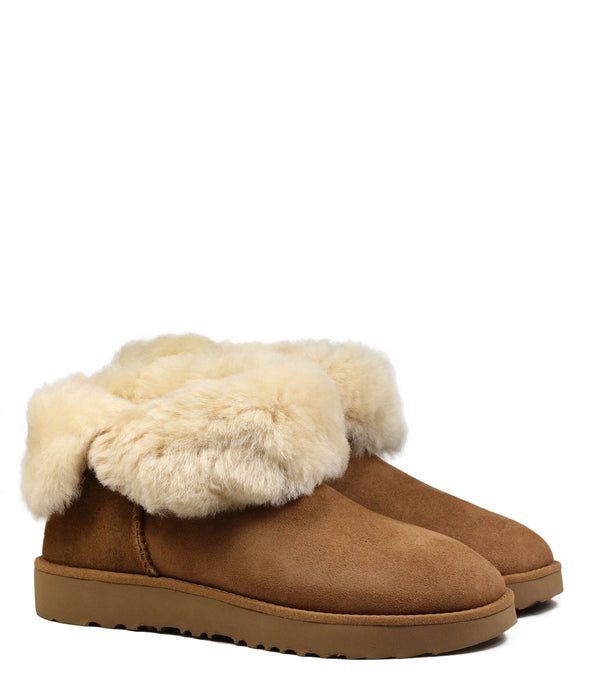 Boots fourées UGG Classic Cuff Mini Chestnut