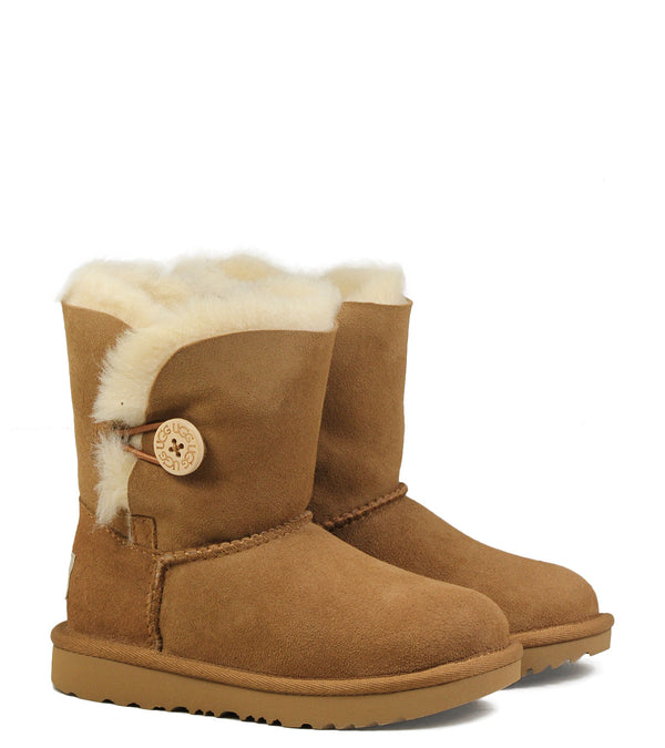 Boots fourrées UGG K Bailey Button II Chestnut