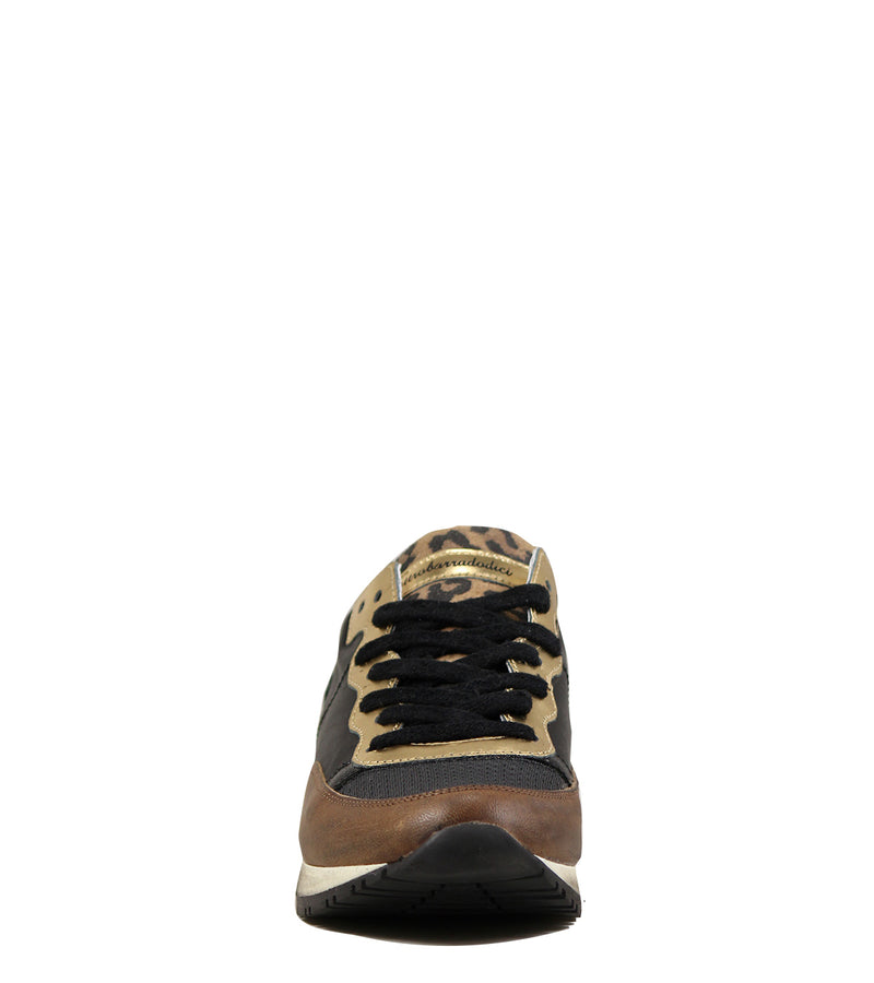 Sneakers Quattro Barra Dodici Guns 349 Brown / Gold
