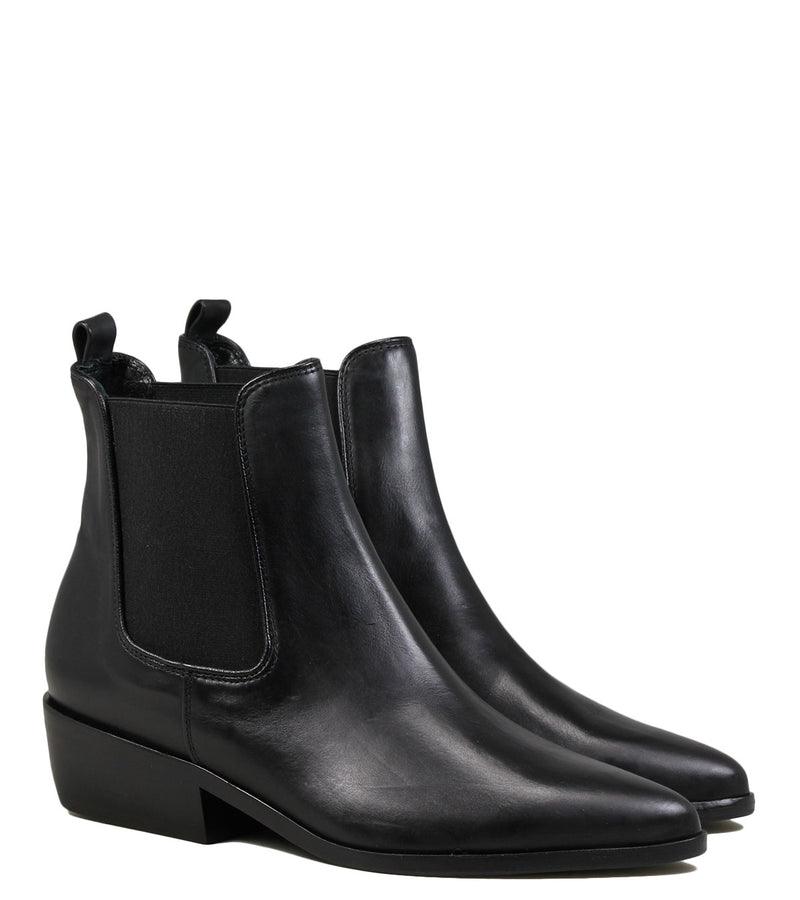 Boots en cuir noir Kennel + Schmenger 33010 Black leather