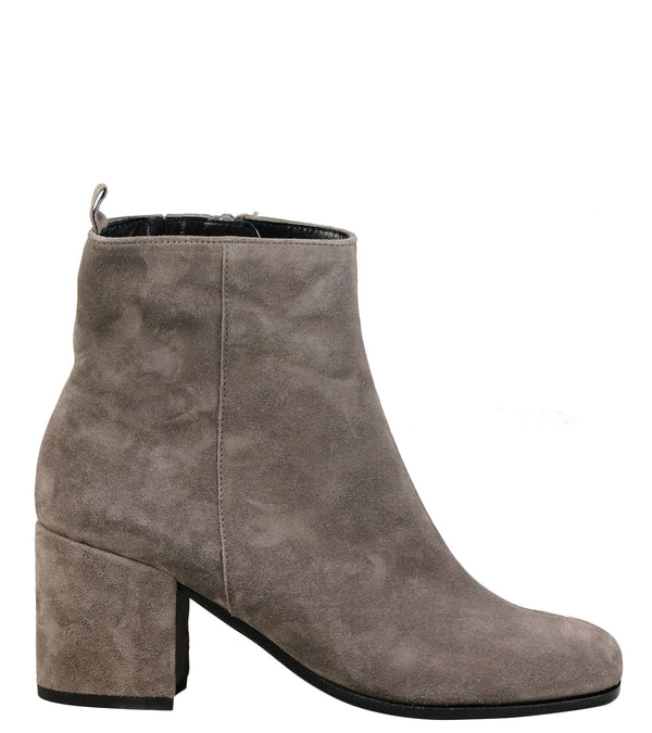 Boots en cuir velours taupe Kennel + Schmenger 63510 Suede Mud