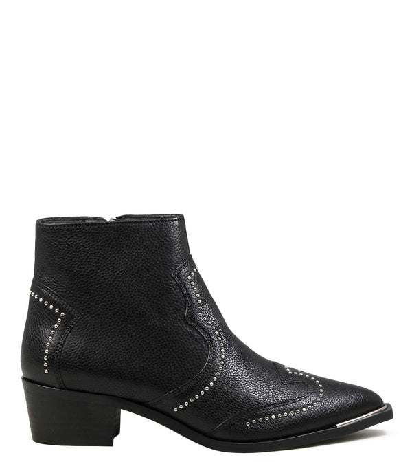 Boots en cuir noir Billi BI 5403 Black Leather