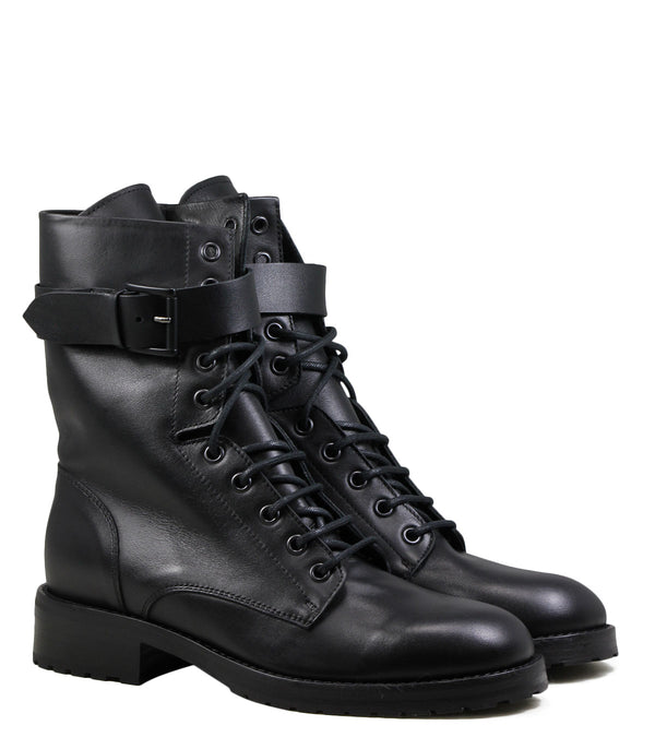 Boots à lacets Lemare 1510 Black Leather