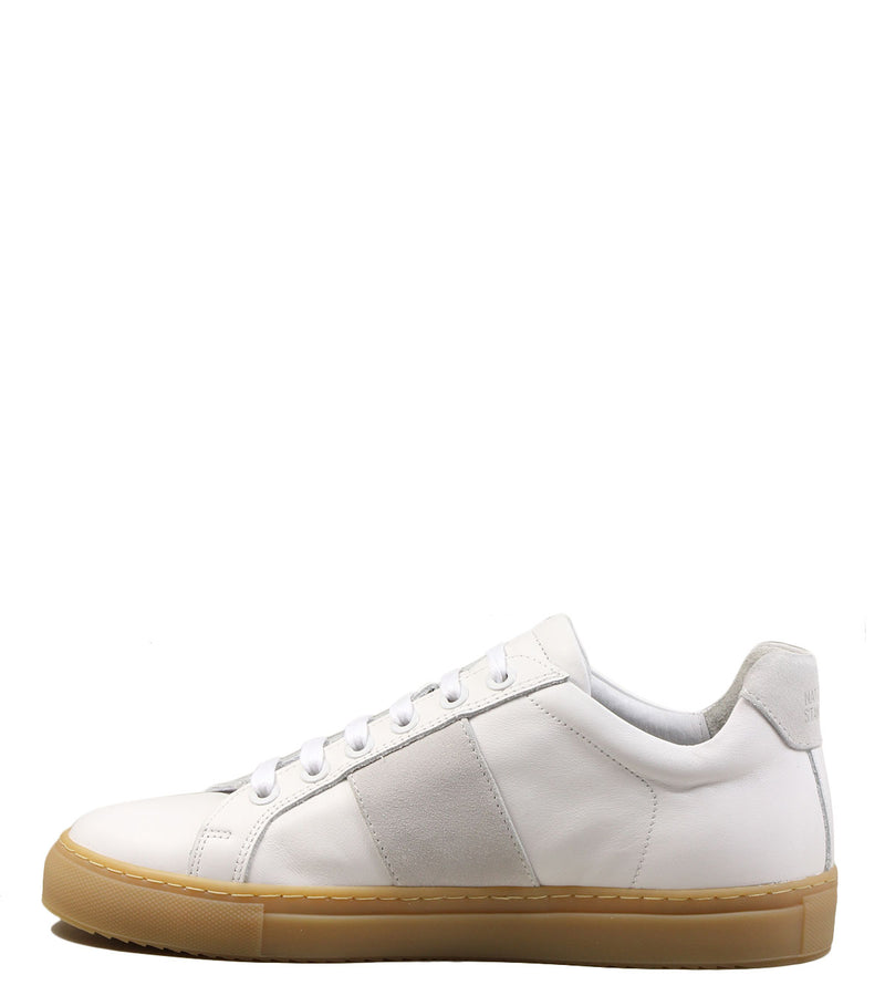 Baskets semelle miel National Standard Edition 4 White Suede
