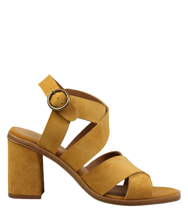 Sandales en cuir velours Sessun Lady Day Miel
