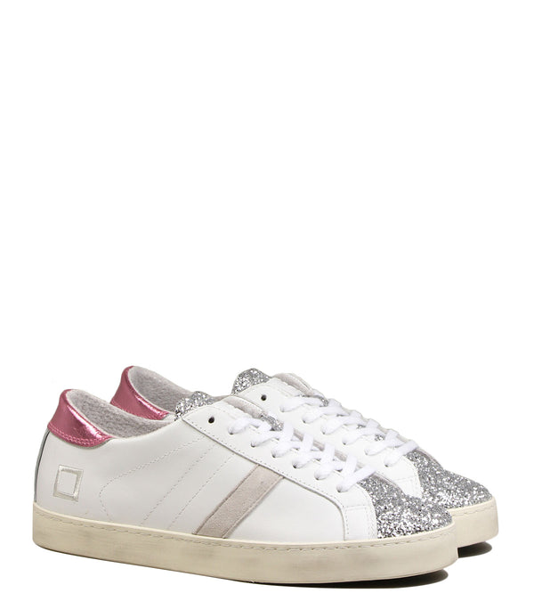 D.A.T.E Hill Low Pop White Silver