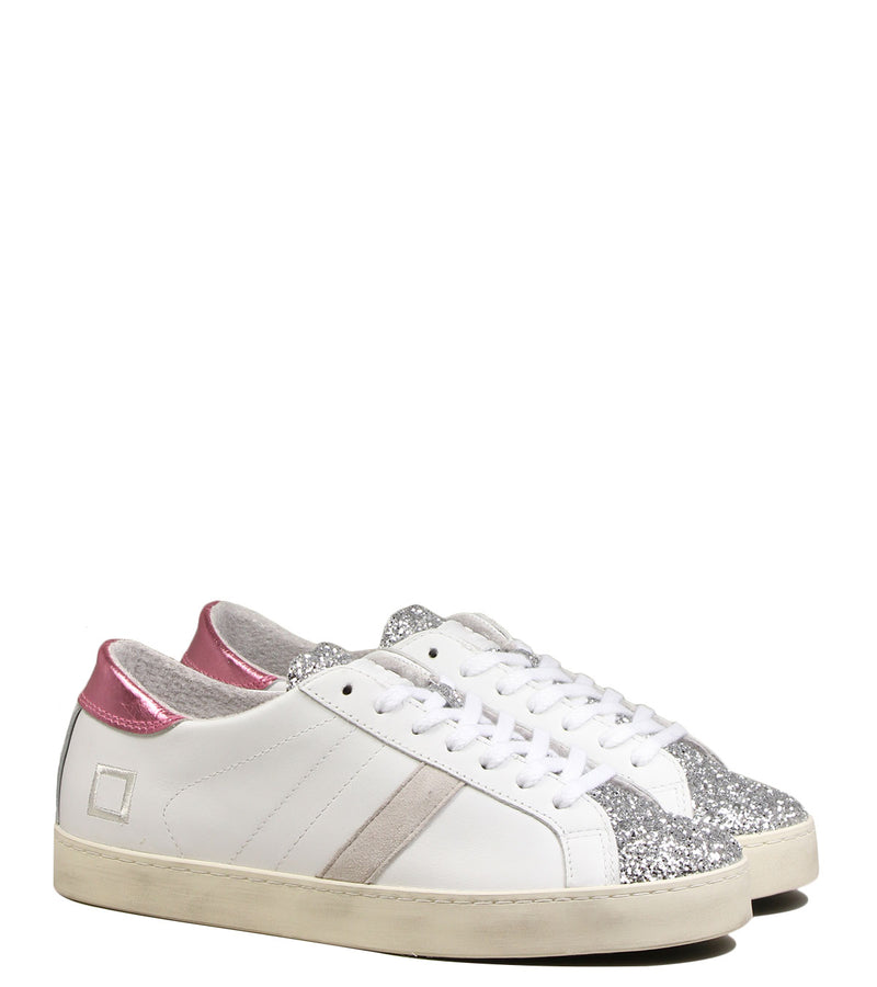 Sneakers blanches et silver D.A.T.E Hill Low Pop White Silver