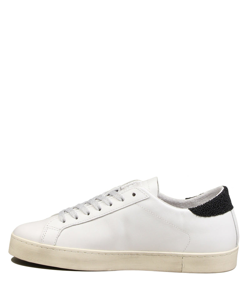 Sneakers blanches et noires D.A.T.E Hill Low Basic White Black