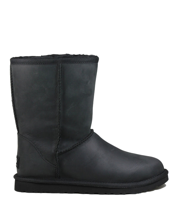 Boots waterproof Ugg Classic Short Leather Black