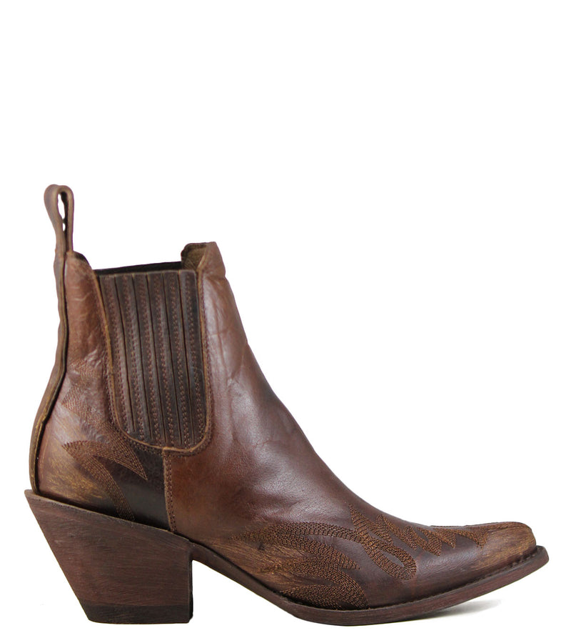 Boots style santiags Mexicana Gaucho Long Stitch Brass