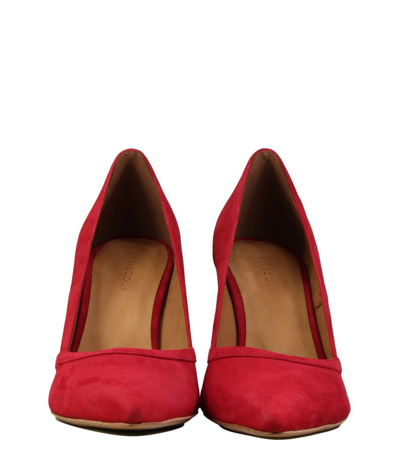 Rivecour Escarpins 117 Velours Rouge