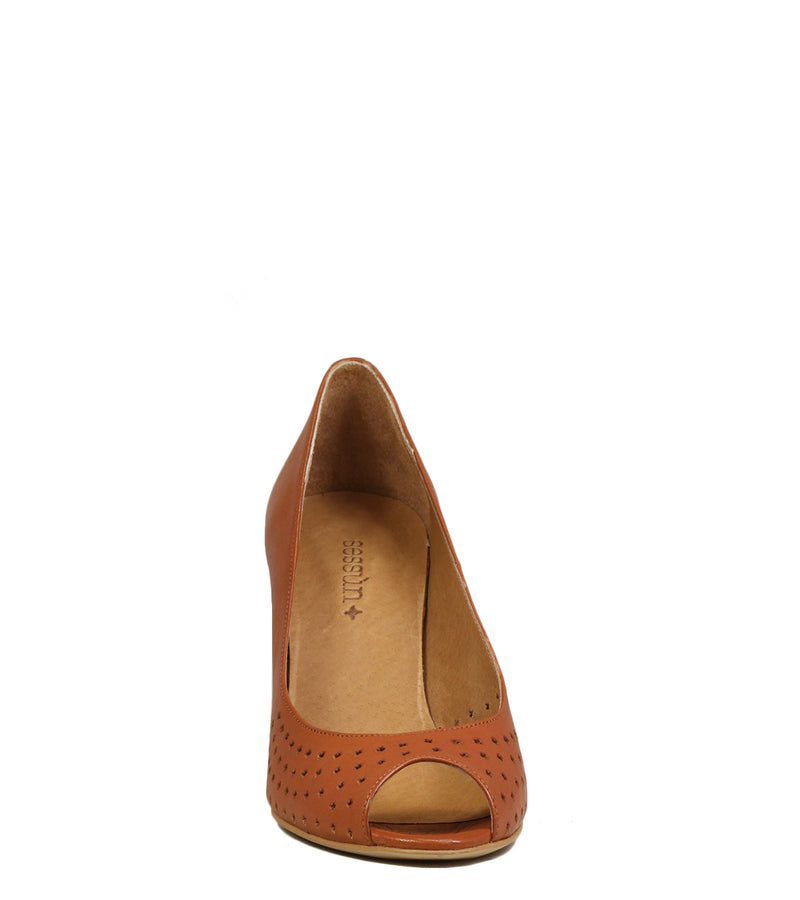 Escarpins peep-toe Sessun Papoose Toffee