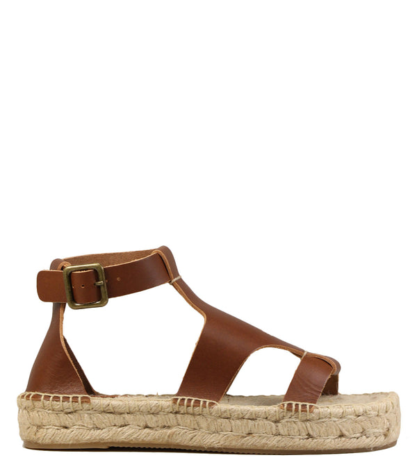 Soludos Banded Shield Sandal Walnut