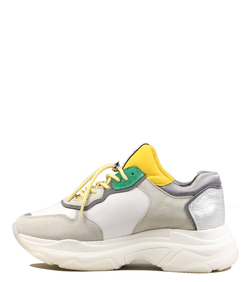 Sneakers old school Bronx Baisley White Yellow