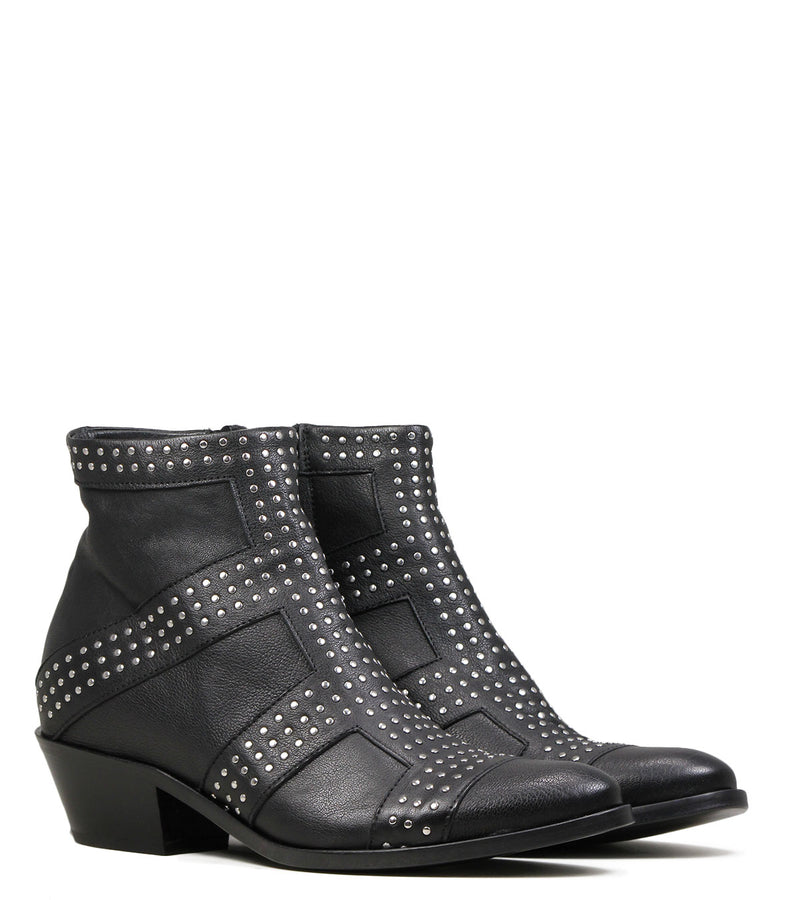 Boots rock Lemare 1793 Black Silver
