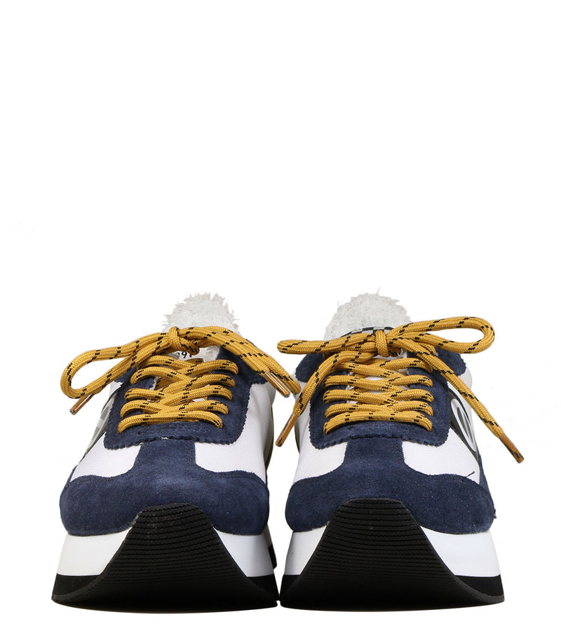 Running compensées No Name Flex Jogger Suede Navy White