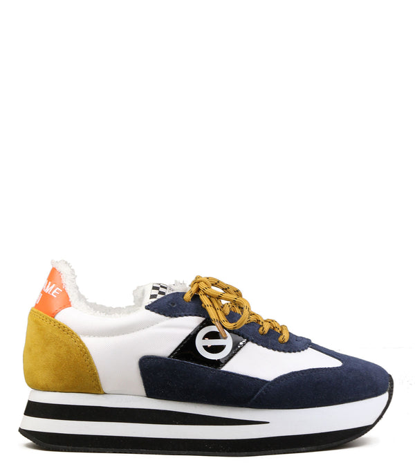 No Name Flex Jogger Suede Navy White