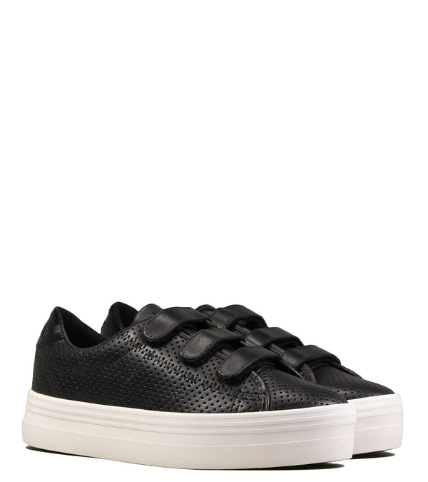 Sneakers No Name Plato Straps Punch Nappa Black